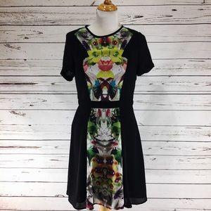 PRABAL GURUNG For Target Mixed Media Floral Dress