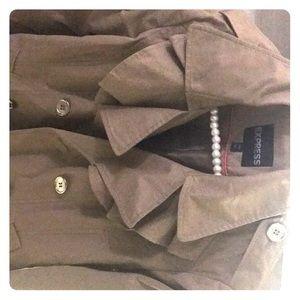 Express ruffled collar coat Sz-S