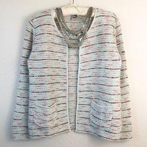 Asos Mixed Media Sparkle Tweed Blazer
