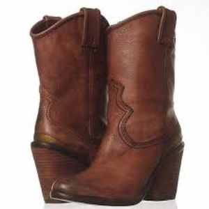 Lucky Elle Western Cowboy Boot Size 7.5 Brown