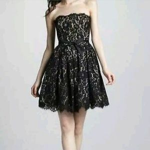 Strapless Black Lace Party Dress NWT