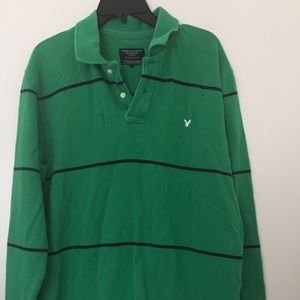 American Eagle Outfitters The Eagle Polo Green  L