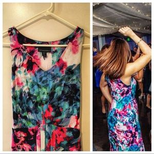 Gorgeous Painted Floral Cynthia Rowley Maxi
