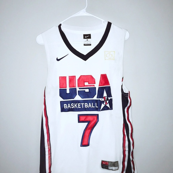sports shoes 02f8d 1f37d Men's 1992 Nike USA Dream Team Larry Bird Jersey