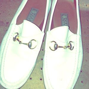 Gucci loafers white
