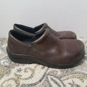 Timberland Pro brown leather anti slip steel toe