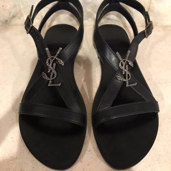 46215933f475 YSL Cassan Nu Pieds Sandals