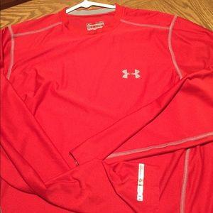 Red Under Armour Heat Gear Shirt