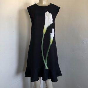 Victoria Beckham Target Dress Black Calla Lily