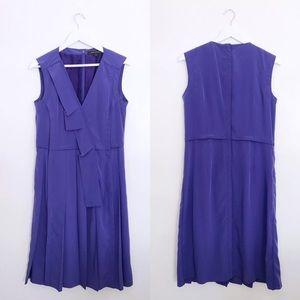 Marc Jacobs Sleeveless Ruffle Front Purple Dress