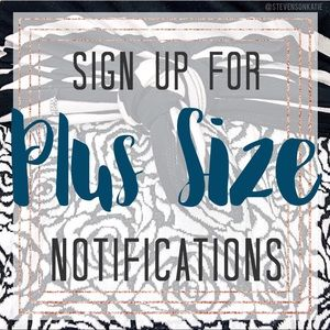 Tops - Plus Size Listing Notifications Sign-Up