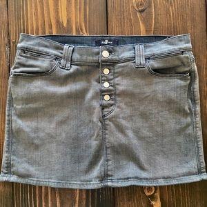 7 for all Mankind mini jean skirt