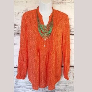 👇KENAR Silky Soft blouse Medium Vibrant for Fall
