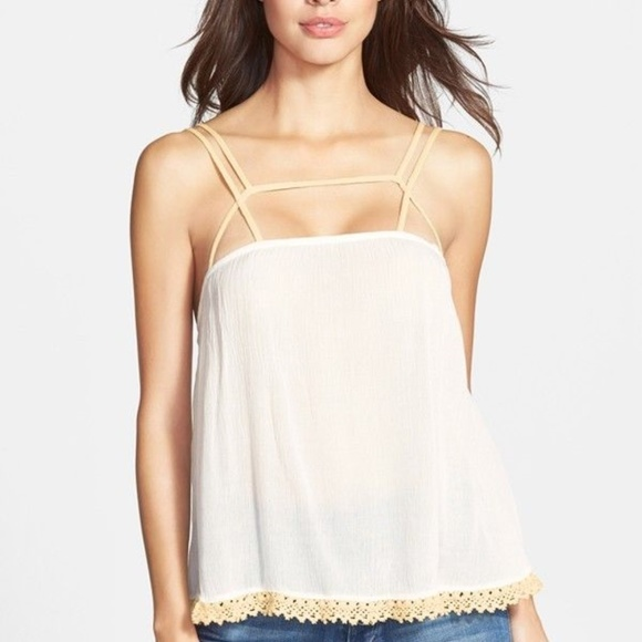 2fdb529db0d Free People Tops   Sale Strappy Crinkled Crepe Cami   Poshmark