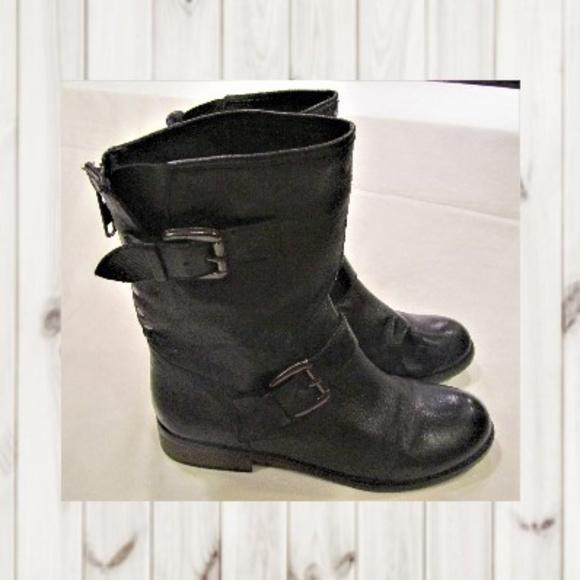 dd4b3ea9ebc Steve Madden Tempt Mid Calf Boots Black Leather