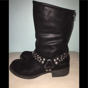 Shoes - Moto Boots with studded strap