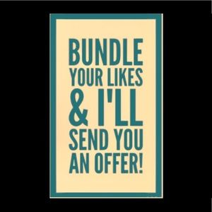Bundle your likes for a private offer!!!