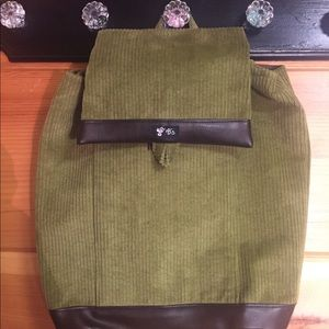 B's backpack green corduroy new tags
