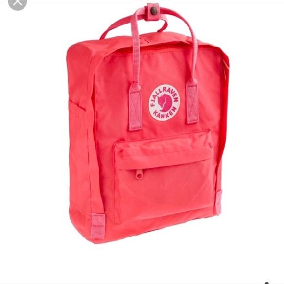 4c6f86f0a6d6 Fjallraven Handbags - Fjall Raven Kanken Mini Backpack (Peach Pink)