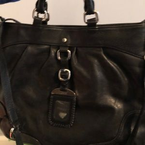 Black leather Lodi's bag