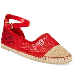 New Cole Haan Noomi Lace Ankle Espadrille Flats