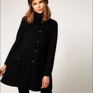 ASOS chic coat with foldover collar