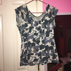 Tops - Blue and white top