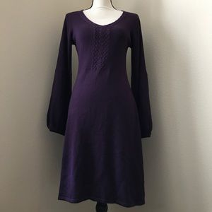 Tahari Arthur S. Levine Plum Sweater Dress