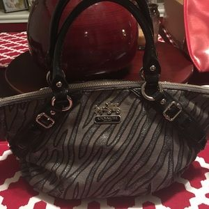 Handbags - Stunning zebra coach bag!