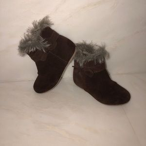 Other - Janie and jack brown boots with fur detail on top