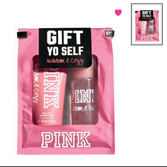 43ac622c1b Vs pink warm cozy gift set body mist lotion minis