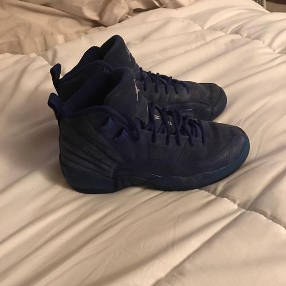 online store fa59a 055eb Jordan 12 Retro Royal Blue Boys Size 5