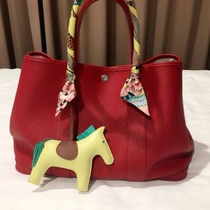 Hermes Bags Authentic Herms Garden Party Size 36 In Red Poshmark