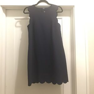 J. Crew scalloped shift dress