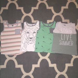 Bundle of 5 toddler boy tanks