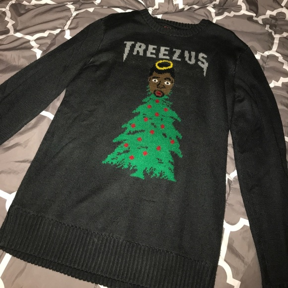 yeezy kanye treezus ugly christmas sweater