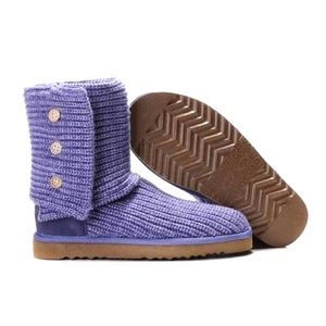 Purple UGG Cardy Boots- Size 4