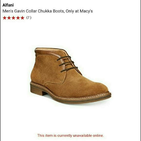 3c3799e02da Alfani Men's Chukka boot size 8