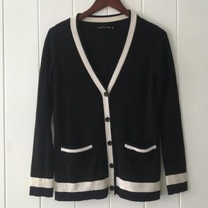 Rag & Bone Black Knit Cardigan Sweater