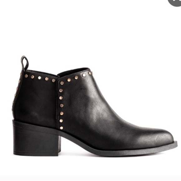 H&M Studded Ankle Boots