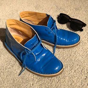 CLARKS original bright blue shoes sz8M