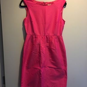Hot pink J Crew silk shift dress - size 4