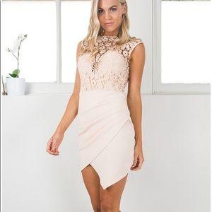 Magic of Love dress in Beige from Showpo NOT Zara