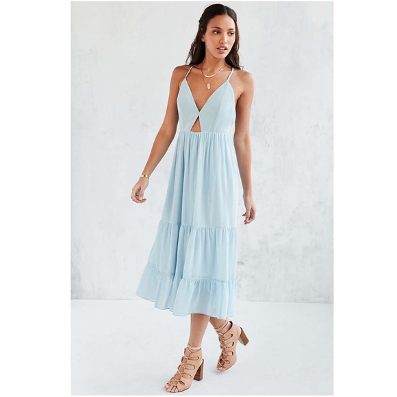 abfffe4a442d Urban Outfitters • Kimchi Blue Cutout Tiered Dress