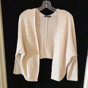 Brandy Melville Off-White Cardigan Crop Back Wool