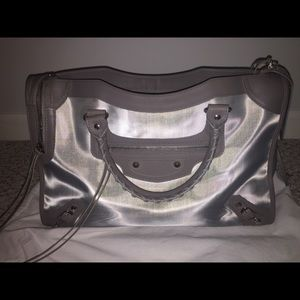 Balenciaga structures city mesh shoulder bag