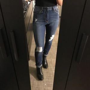 Nasty gal distressed jeans