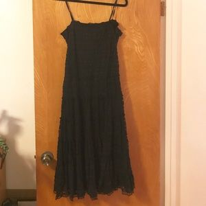 Black lace spaghetti strap dress