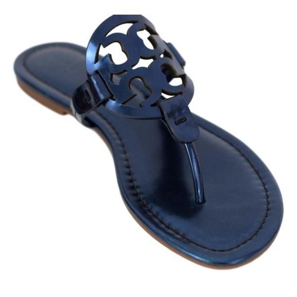 f97d947d5 Tory Burch Shoes | Nwt Miller Sandal Metallic Blue | Poshmark