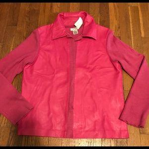 🌸🌸Leather jacket/like new